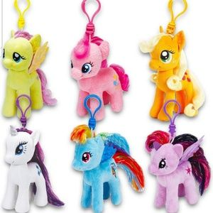 12 My Little Pony plush clip-on party favor toys